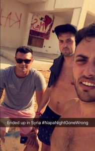 Hungover lads end up in Syria after boat trip Taken without permission, editorial call http://beta.theladbible.com/community/fail-lads-working-in-ayia-napa-go-on-a-boat-trip-end-up-in-syria-20160607